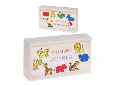 Ντόμινο Ξύλινο με Ζώα