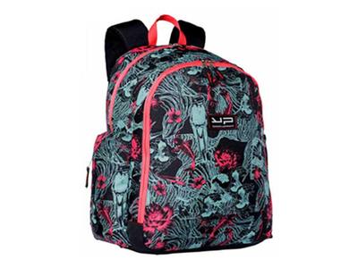 Bodypack Τσάντα Πλάτης 2&3Θ. 44x32x20cm Estampe Μαύρο/Κοραλί