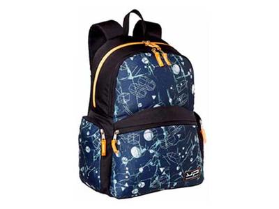 Bodypack Τσάντα Πλάτης 2&4Θ. 44x32x20cm Marble Μπλε