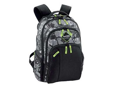 Bodypack Τσάντα Πλάτης Laptop 2&1Θ. 45x32x21cm Μαύρο/Πράσινο