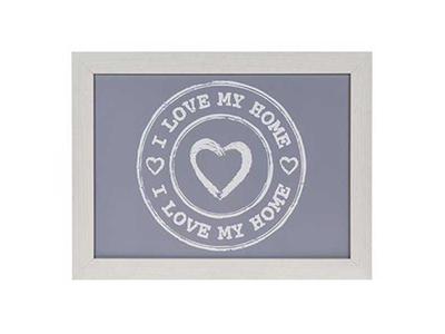 Δίσκος Πρωινού με Μαξιλάρι I Love My Home Γκρι 43x32,5εκ.