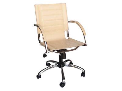 Καρέκλα Γραφείου Διευθυντική Δερματίνη Μπεζ
