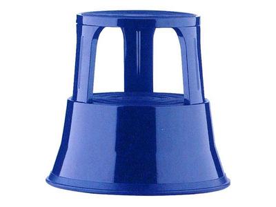 Σκαμπό Σκαλοπάτι Μεταλλικό με Ρόδες Μπλε Υ43xØ29x45εκ.