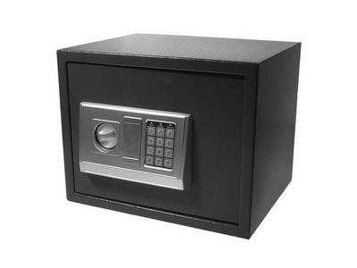 Χρηματοκιβώτιο με Συνδυασμό και Κλειδί Γκρι Υ30x38x30εκ.
