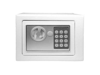 Χρηματοκιβώτιο με Συνδυασμό και Κλειδί Λευκό Υ20x24x18εκ.