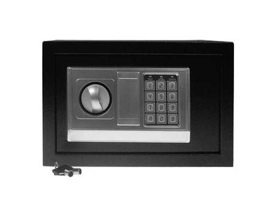 Χρηματοκιβώτιο με Συνδυασμό και Κλειδί Μαύρο Υ30x38x30εκ.