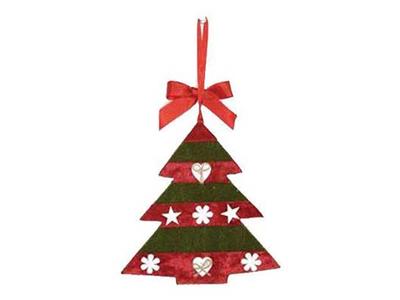 Χριστουγεννιάτικα Στολίδια Δεντράκια 4τεμ.
