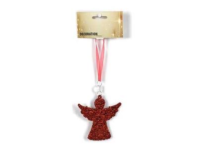 Χριστουγεννιάτικα Στολίδια Κόκκινα 4τεμ.