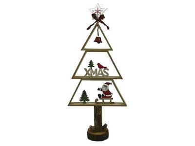 Χριστουγεννιάτικο Ξύλινο Δέντρο Διακοσμητικό