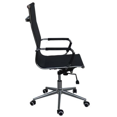 Καρέκλα διευθυντική τροχήλατη μαύρη με ενιαία πλάτη β