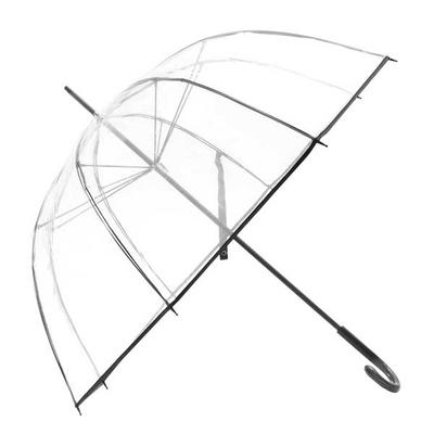 Ομπρέλα Αυτόματη Διάφανη Ø88εκ μαυρη