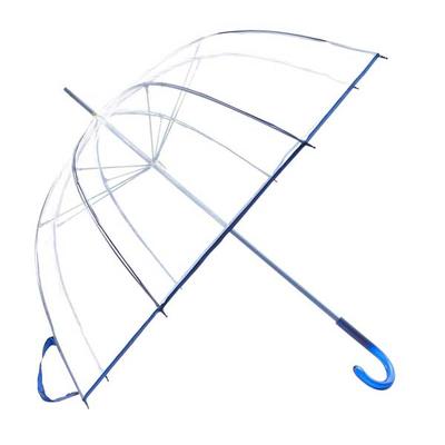 Ομπρέλα Αυτόματη Διάφανη Ø88εκ μπλε