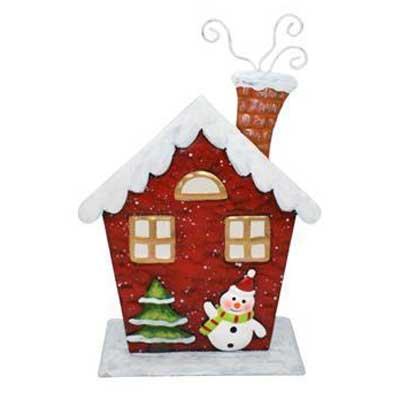 Διακοσμητικό Κηροπήγιο Χριστουγεννιάτικο Σπιτάκι 20x13εκ