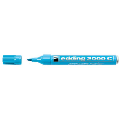 Edding 2000C Μαρκαδόρος Ανεξίτηλος Μεταλλικός γαλαζιο