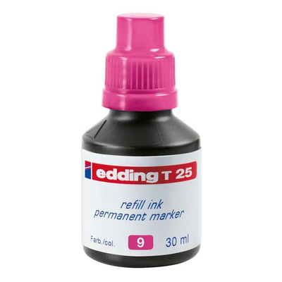Edding Τ-25 Ανεξίτηλο Μελάνι 30ml ΡΟΖ