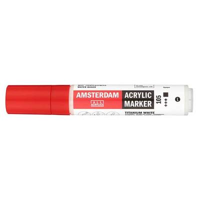 Talens Amsterdam Ακρυλικός Μαρκαδόρος 15mm TITANIUM WHITE