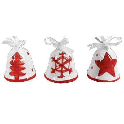 Χριστουγεννιάτικα Στολίδια Κεραμικές Καμπάνες 24τεμ.