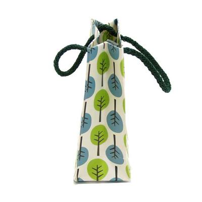 Χάρτινη Σακούλα Δέντρα Μπλέ & Πράσινα