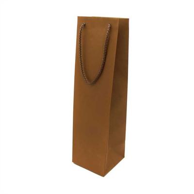 Χάρτινη Σακούλα Κρασιού Με Κορδόνι 39Υx14Πx8