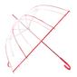 Ομπρέλα Αυτόματη Διάφανη Ø88εκ κοκκινη