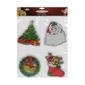 Χριστουγεννιάτικα Αυτοκόλλητα για τα Τζάμια 4τεμ.